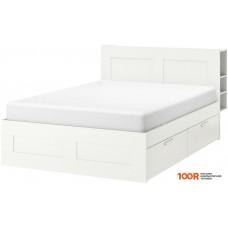 Кровать Ikea Бримнэс 200x140 (4 ящика, белый, без основания) 692.107.22