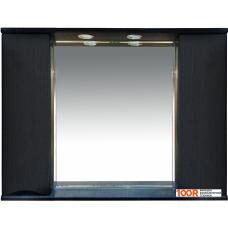 Мебель для ванной Misty Шкаф с зеркалом Элвис 105 (венге)