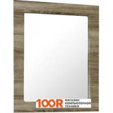 Мебель для ванной Норта Мадера 60 Зеркало белый/дуб серый глянец