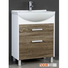 Мебель для ванной Норта Пальмера 65 Тумба под умывальник белый/дуб сонома темный