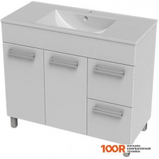 Мебель для ванной Triton Ника-100 тумба под умывальник с 2 ящиками белая правая