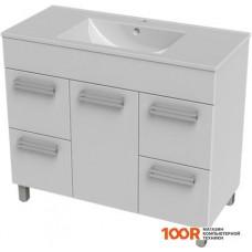 Мебель для ванной Triton Ника-100 тумба под умывальник с 4 ящиками белая
