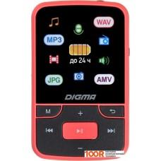 Плеер Digma T4 8GB (черный/красный)