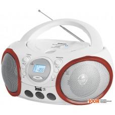 Портативная аудиосистема BBK BX150BT (белый/красный)