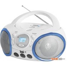 Портативная аудиосистема BBK BX150BT (белый/синий)