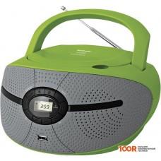 Портативная аудиосистема BBK BX195U (серый/зеленый)