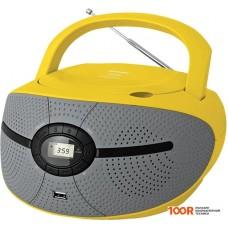 Портативная аудиосистема BBK BX195U (серый/желтый)