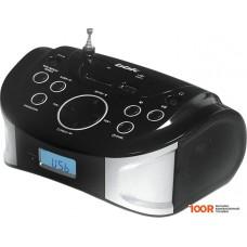 Портативная аудиосистема BBK BS01 (черный/серебро)