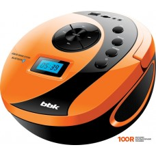 Портативная аудиосистема BBK BS10BT (черный/оранжевый)