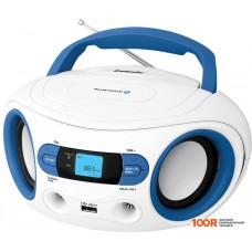 Портативная аудиосистема BBK BS15BT (белый/голубой)