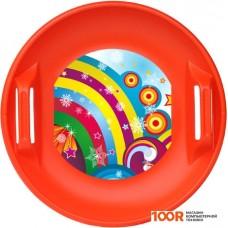 Санки Цикл Ледянка дисковая Форсаж (красный)