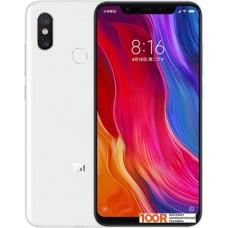 Смартфон Xiaomi Mi 8 6GB/128GB международная версия (белый)