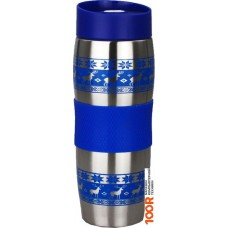 Термосы и термокружки Alpenkok AK-04023A Олени синие 0.4л (серебристый/синий)