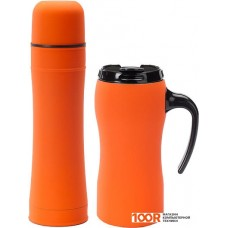 Термосы и термокружки Colorissimo Thermal Mug & Thermos Set (оранжевый) [HD01-OR/HT01-OR]