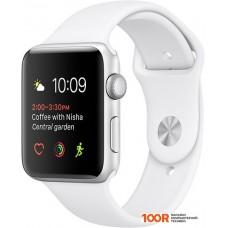 Умные часы Apple Watch Series 1 42mm Silver with White Sport Band [MNNL2]