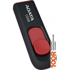 USB-флешка A-Data C008 Black+Red 64 Гб (AC008-64G-RKD)