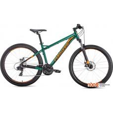 Велосипед Forward Quadro 27.5 2.0 disc р.19 2019 (зеленый)