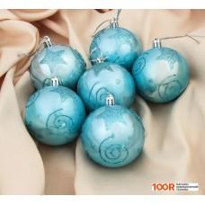 Новогоднее украшение Зимнее волшебство Голубая лагуна 6 шт (голубой) 3531450